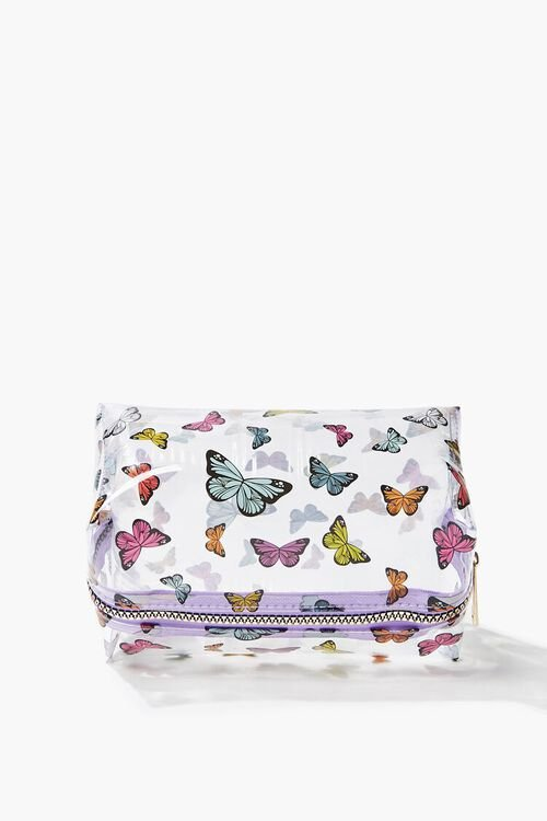 Butterfly Print Transparent Square Bag, image 2