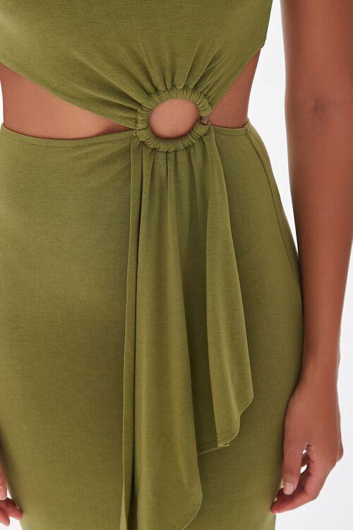 BROWN O-Ring Cutout Maxi Dress, image 4
