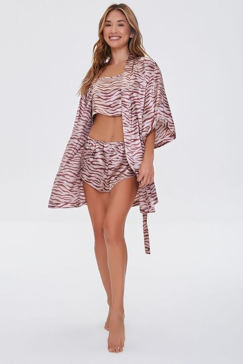 Satin Tiger Print Robe, image 4