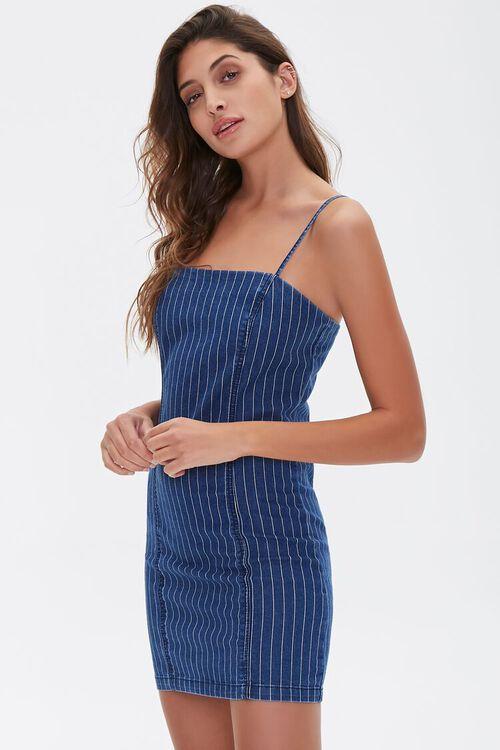 Pinstriped Denim Mini Dress, image 2
