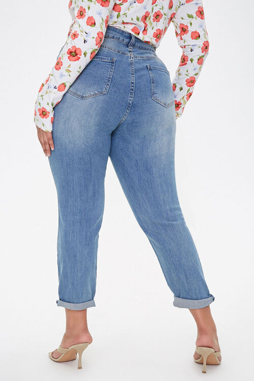 Plus Size Distressed Jeans, image 4