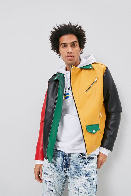 Colorblock Moto Jacket, image 1