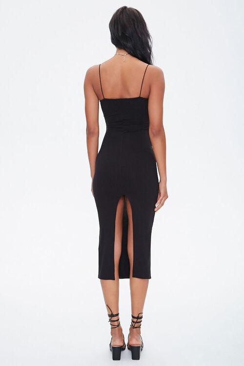 Ribbed Slit Midi Dress, image 4