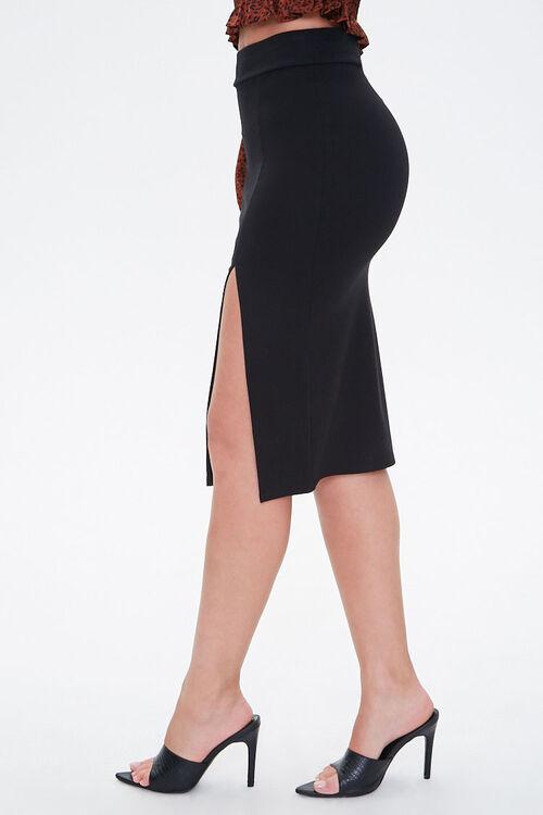 High-Slit Seamed Bodycon Skirt, image 2