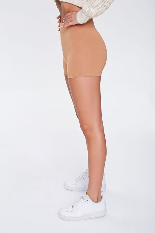 Basic Cotton-Blend Biker Shorts, image 3