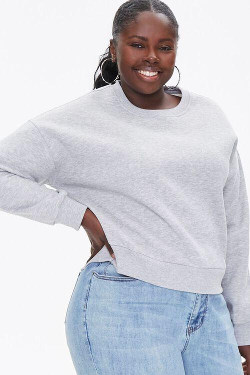 Plus Size Fleece Drop-Sleeve Pullover, image 1