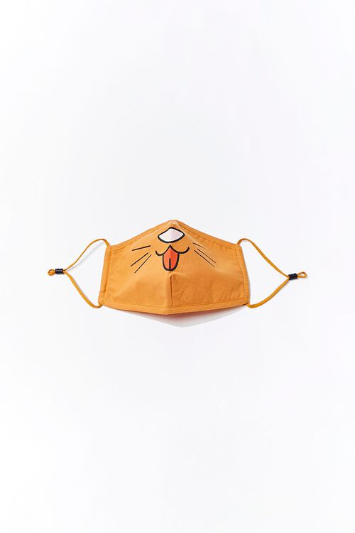Girls Cat Face Mask (Kids), image 1