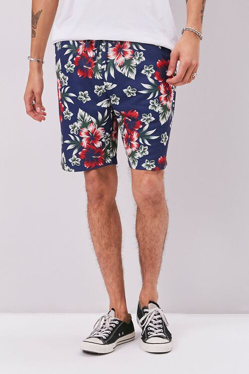 Tropical Print Drawstring Shorts, image 2