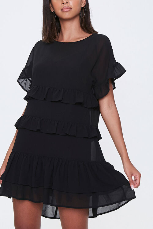 Tiered Ruffle Mini Dress, image 1