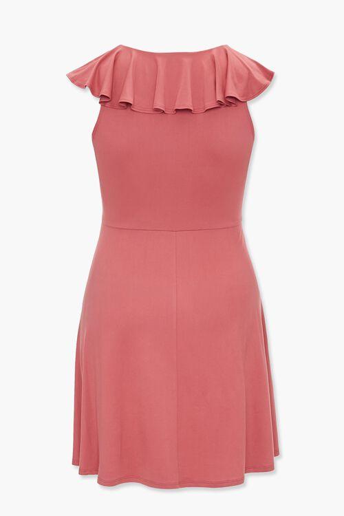 Plus Size Flounce V-Neck Dress, image 2