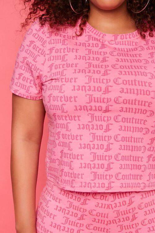 PINK/MULTI Plus Size Juicy Couture Graphic Tee, image 5