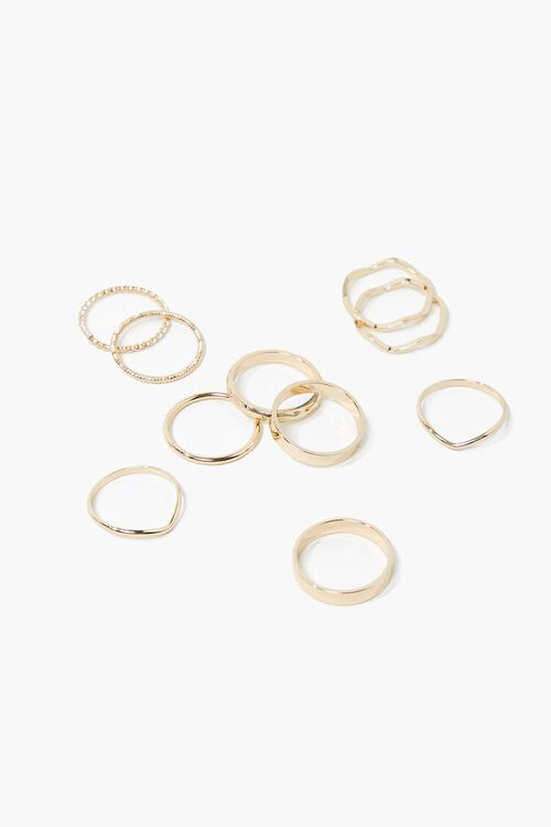 Smooth & Twisted Ring Set, image 1