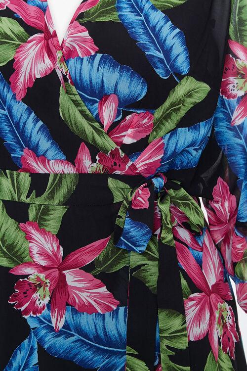 Plus Size Tropical Wrap Dress, image 3