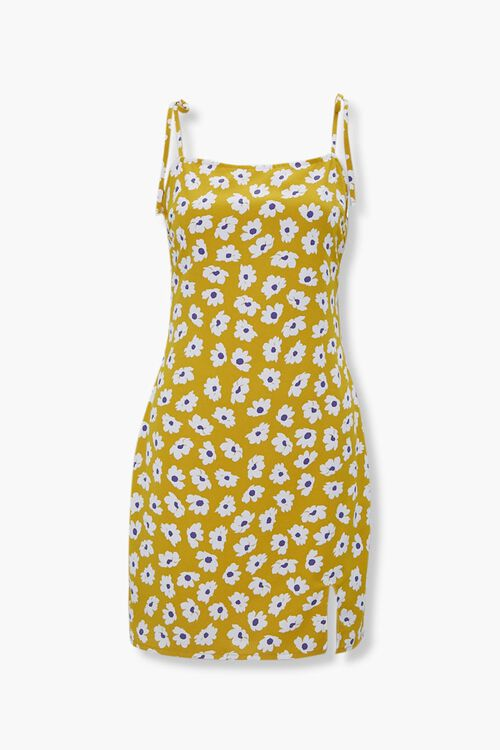 Floral Tie-Strap Mini Dress, image 1