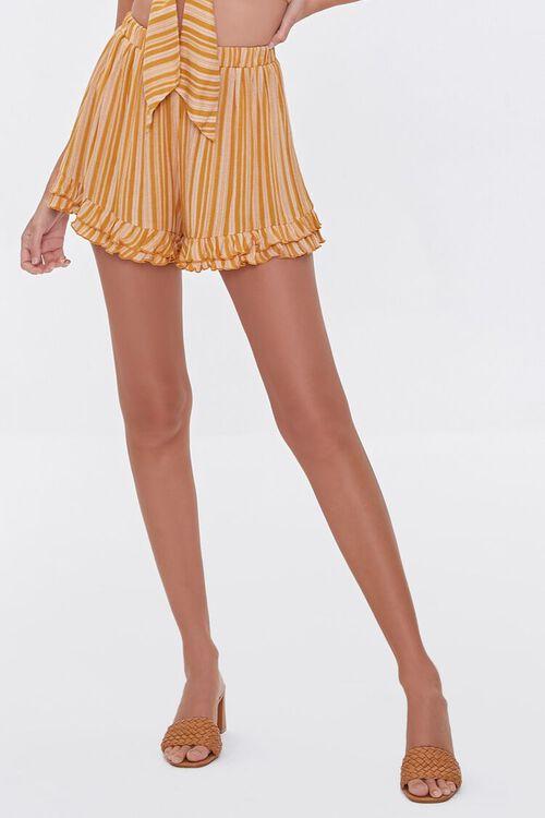 Striped Cropped Cami & Ruffled Shorts Set, image 6