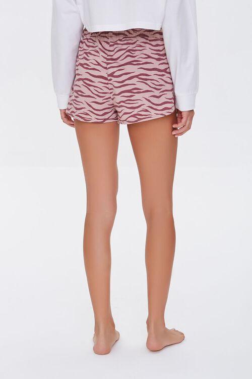 Tiger Striped Print Lounge Shorts, image 4