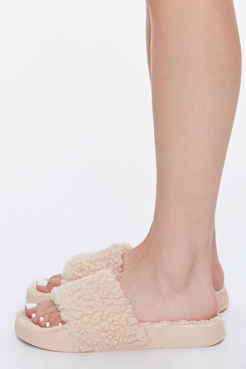 Faux Shearling Slippers, image 2