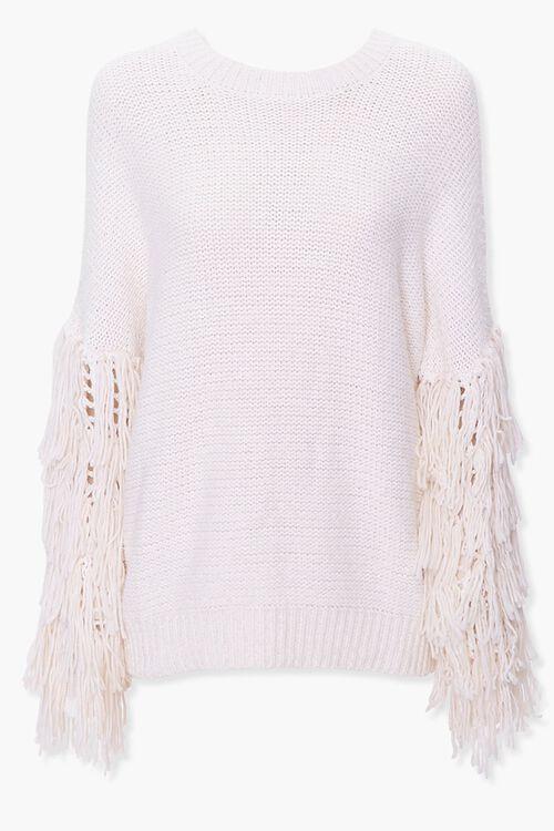 Fringe-Trim Knit Sweater, image 1
