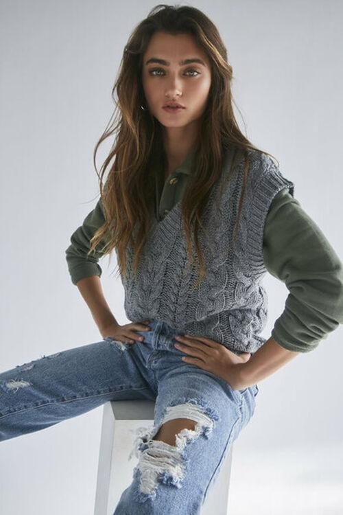 Pointelle Knit Sweater Vest, image 1