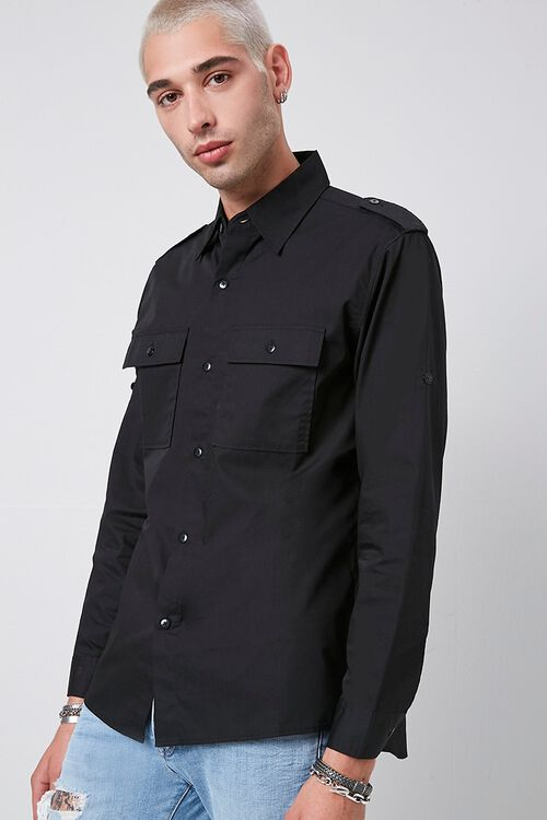 Epaulet Flap Pocket Shirt, image 1