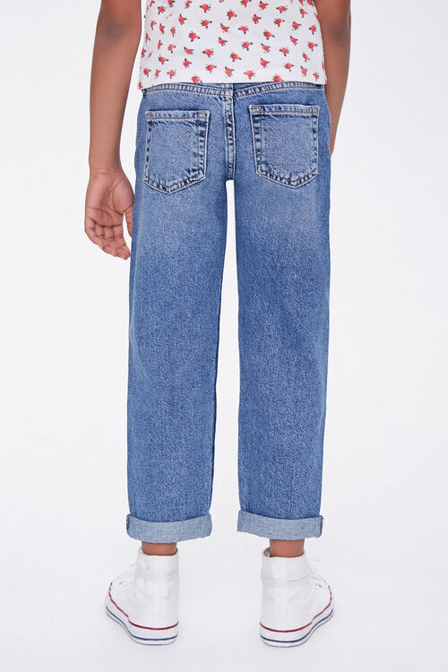 Girls Distressed Mom Jeans (Kids), image 3