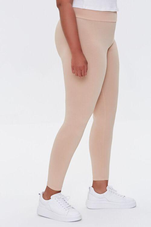 Plus Size Basic Organically Grown Cotton Leggings, image 3