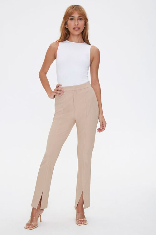 Darted Split Flare Pants, image 1