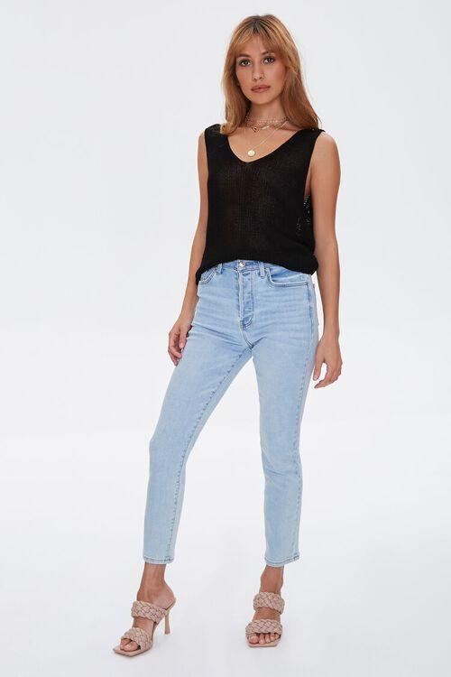 BLACK Sweater-Knit Tank Top, image 5