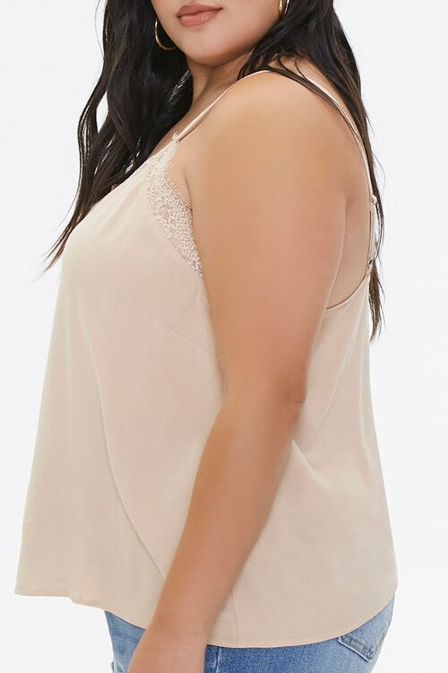 Plus Size Relaxed Lace-Trim Cami, image 2
