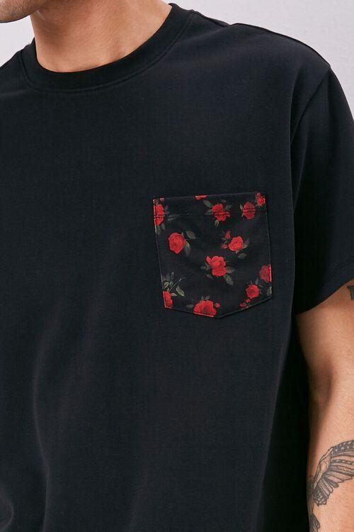 Floral Print Pocket Tee, image 5