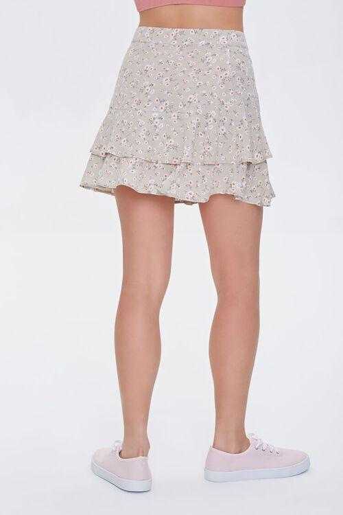 Floral Tulip-Hem Mini Skirt, image 3