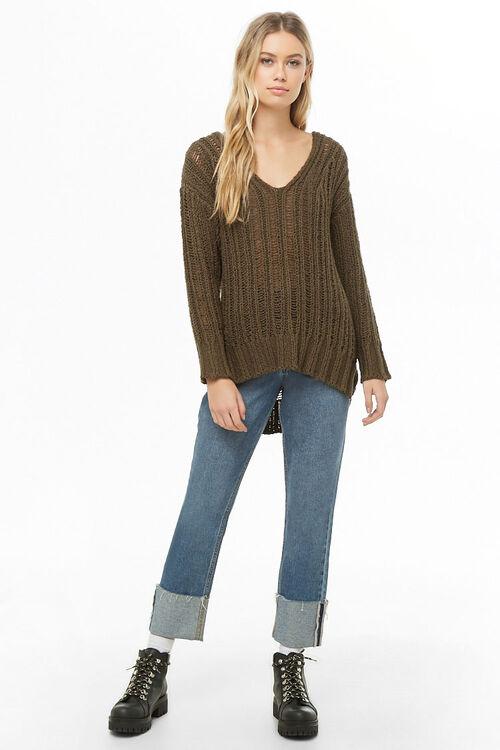 OLIVE V-Neck High-Low Sweater, image 4