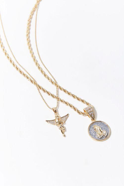 Praying Angel Pendant Necklace Set, image 1