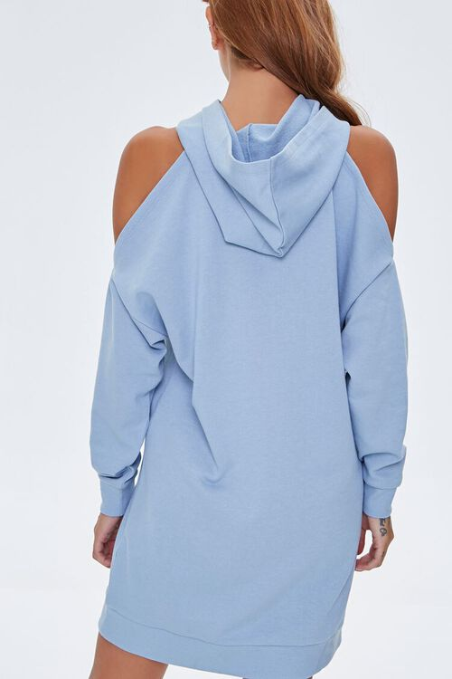 Open-Shoulder Hoodie Dress, image 3