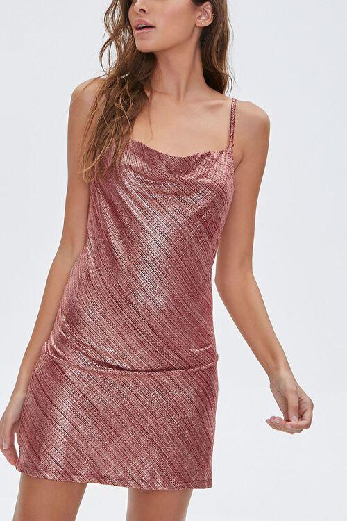 Metallic Cami Mini Dress, image 1