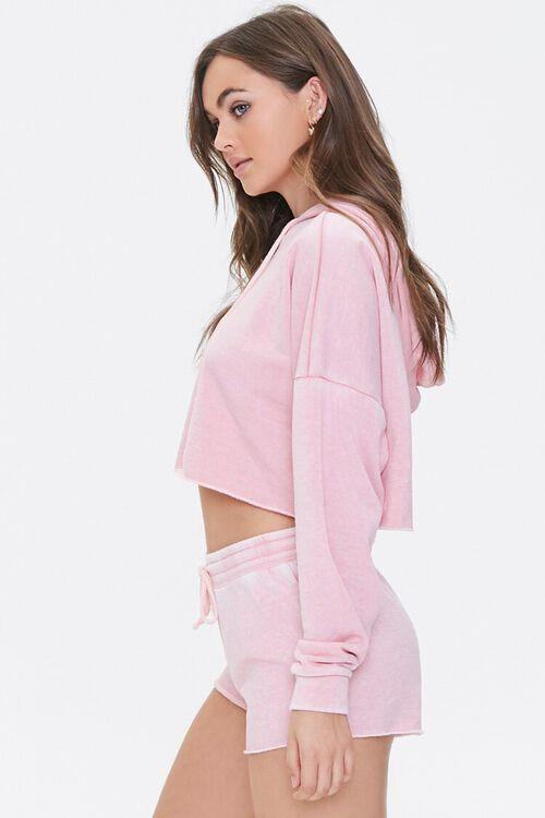 PINK Hooded Heathered Pajama Top, image 2