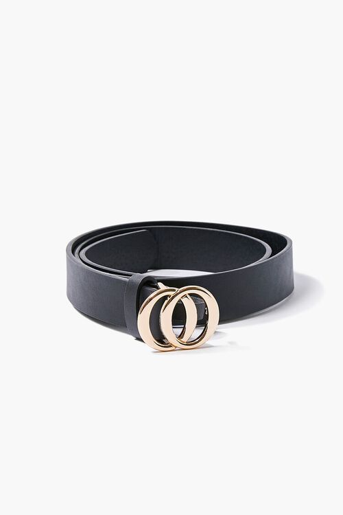 Faux Leather O-Ring Buckle Belt, image 1