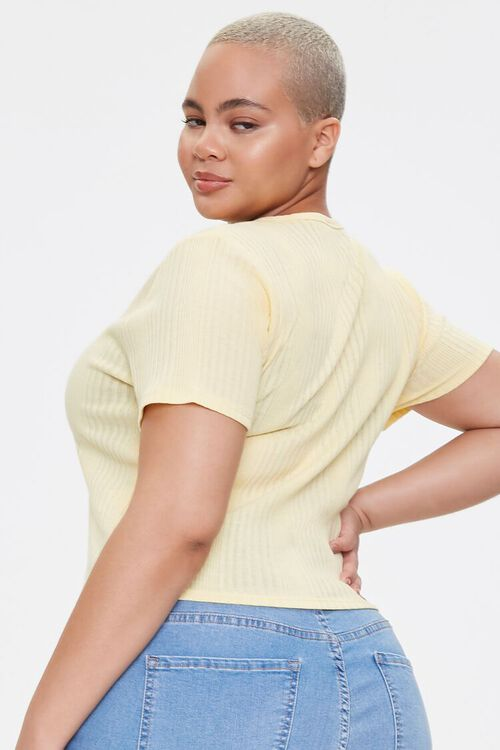 Plus Size Button-Up Tee, image 3