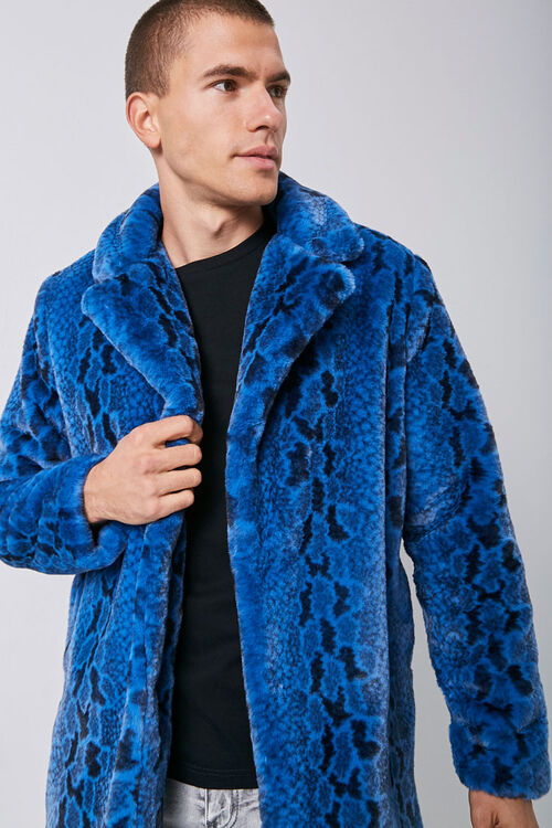 Faux Fur Snakeskin Print Coat, image 5