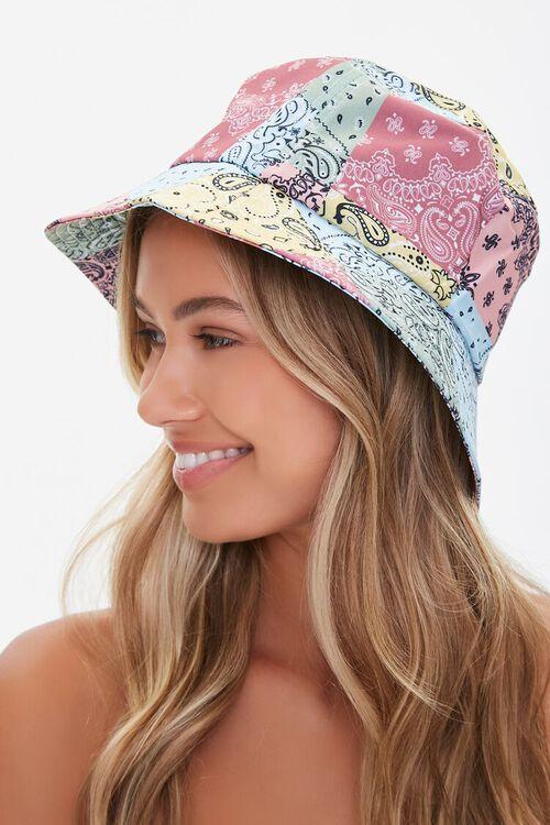 Patchwork Paisley Print Bucket Hat, image 2