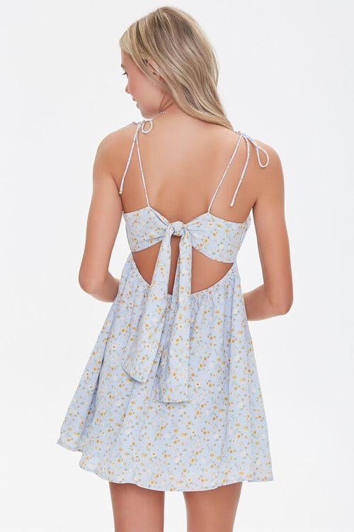 Floral Print Fit & Flare Dress, image 3