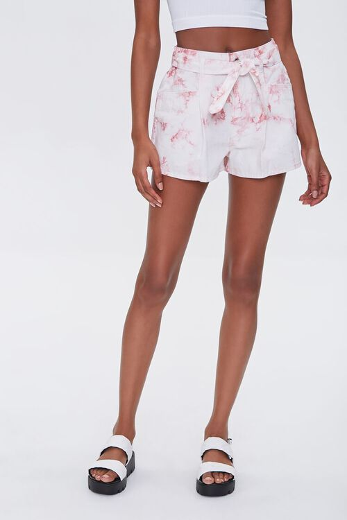 Belted Tie-Dye Shorts, image 2