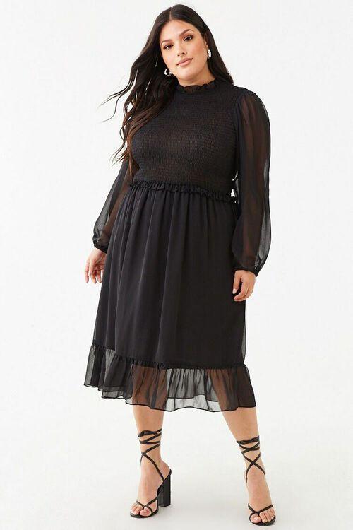 Plus Size Ruffle-Trim Dress, image 4