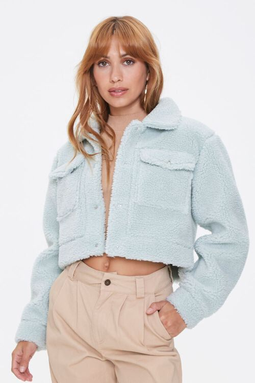 Faux Shearling Buttoned Jacket, image 1