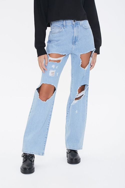 Destroyed 90s Fit Jeans, image 1