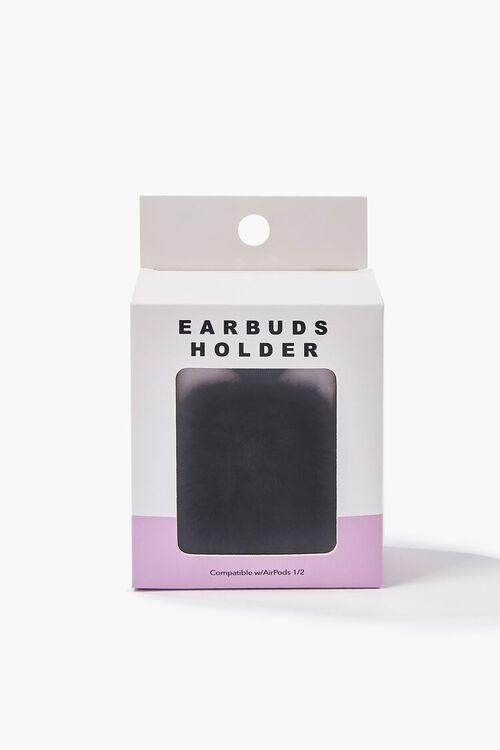 BLACK/MULTI Plush Cat Earbuds Holder, image 3