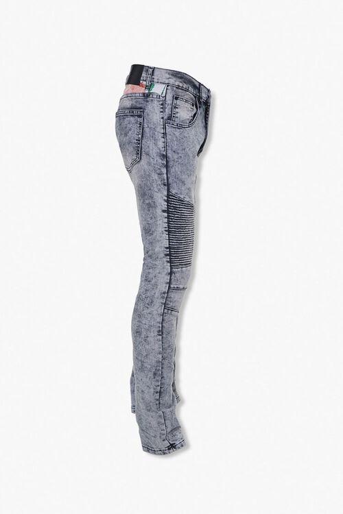 Reason Leaf-Print Yoke Moto Jeans, image 2