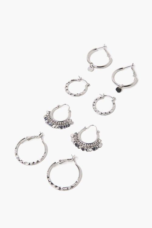 Burnished Hoop Earring Set, image 1