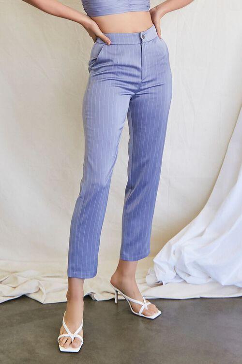 BLUE HAZE/CREAM Pinstriped Crop Top & Ankle Pants Set, image 5