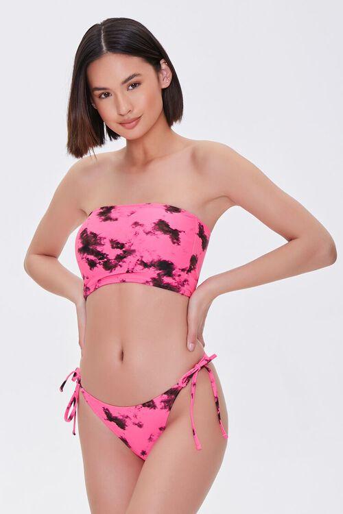 Tie-Dye String Bikini Bottoms, image 1